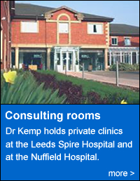 Consulting rooms for Consultant Clinical Neuropsychologist  Dr Steven Kemp of Leeds, Bradford, Yorkshire and London